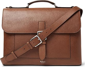Mulberry Chiltern Pebble-grain Leather Briefcase - Brown ae23294dd5910