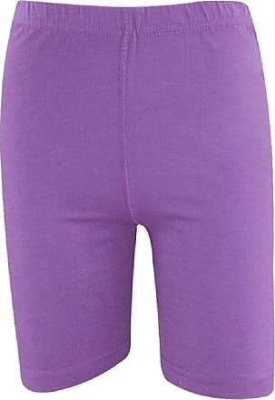 Momo & Ayat Fashions Ladies Cotton Elastane Dance Cycling Shorts UK Size 8-22 (S/M (UK 8-10), Purple)