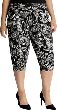 Nouvelle Collection Cropped Paisley Print Ali Baba Black 20-22