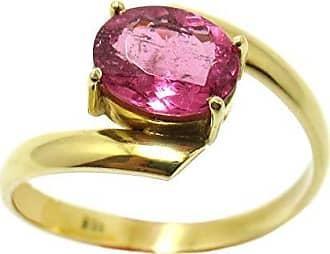 Boreale Joias Anel Solitário Ouro 18k 750 Com Turmalina Rosa Natural