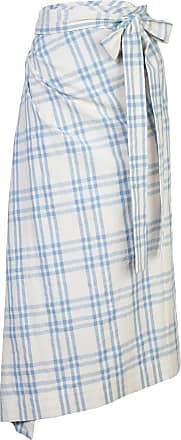 Rosie Assoulin Saia xadrez com drapeado - Branco