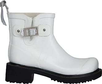 Ilse Jacobsen Womens Damen Gummistiefel Kurz mit Schnalle, RUB60 Rain Boot, White, 8 UK
