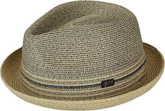 500b93e1d05 Bailey Mens Hooper Braided Fedora Trilby Hat, Parchment, M