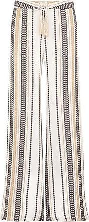 Zeus + Dione Alecestes Striped Silk-blend Gauze Wide-leg Pants - Ivory