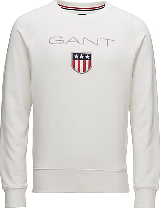 GANT Gant Shield C-Neck Sweat Sweat-shirt Tröja Vit GANT