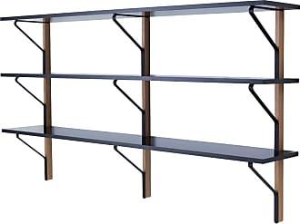 Artek REB 008 Kaari Wall Shelving Unit Natural Oak & Black
