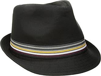 U.S.Polo Association Mens Cotton Twill Fedora, Striped Grosgrain Hatband, Black, M/L