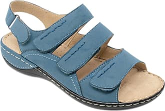 Cushion-Walk Ladies Womens Touch Fasten Sandal Blue 7 UK