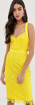 Paper Dolls Tall Gehaakte kanten jurk met verschillende bandjes in geel