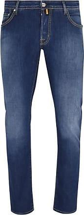 Jacob Cohen J 622 Komfort Jeans Denim Stretch Teal Badge Navy Jeans - UK 34 / EU 50
