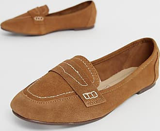 New Look contrast stitch loafer in tan - Tan