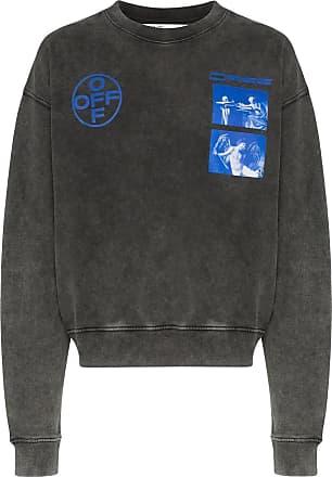 Off-white Pullover mit Logo-Print - Schwarz