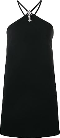 Miu Miu embellished halterneck dress - Preto