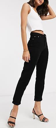 Topshop cord skinny jeans in black