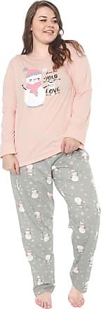 Pzama Pijama Pzama Love Rosa/Cinza