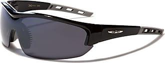 X Loop Mens Or Womens X-Loop Designer Wrap Sunglasses (Black - Grey Arm)