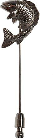 Lanvin Koi Carp Pin Mens Silver