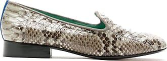 Blue Bird Shoes Loafer em couro Python - Estampado