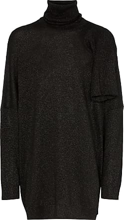 Raf Simons hole detail knitted roll neck jumper - Black