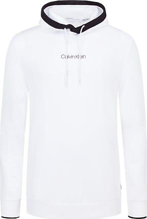 Calvin Klein Übergröße : Calvin Klein, Hoody mit Logo-Schriftzug in Weiss für Herren