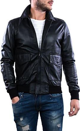 Leather Trend Italy Schott Napoli - Giacca Uomo in Vera Pelle colore Nero Morbida