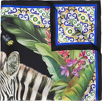 Dolce & Gabbana Lenço Maiolica com estampa de zebra - Verde