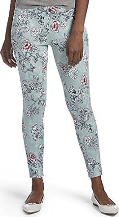 Hue Womens Clouded Floral Essential Denim Skimmer Leggings, Icicle, XS