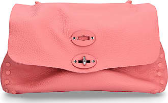 Zanellato Handbag PURA CACHEMERE leather embossment logo metallic rosé