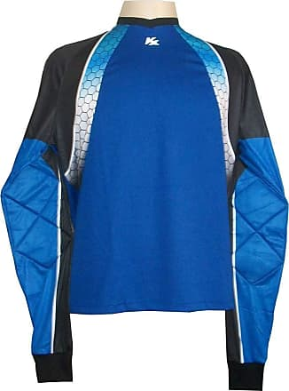 Kanxa Camisa de Goleiro Profissional modelo Paraí Tam G Nº 1 Azul Royal/Preto - Kanxa