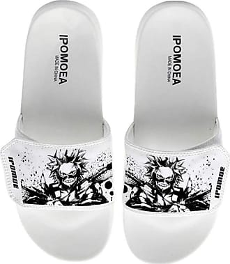 Cosstars My Hero Academia Unisex Anime Slippers Open Toe Sandals Adjustable Hook and Loop 6 / White 280 MM