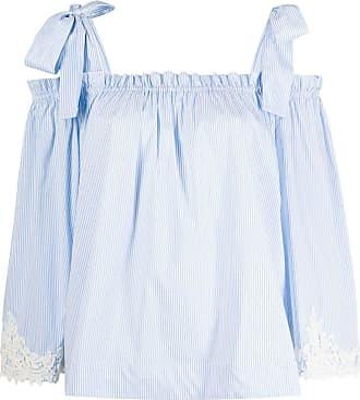Blumarine lace detail blouse - Branco