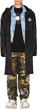 VETEMENTS Long Raincoat in Black