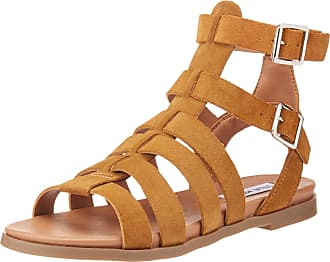 Steve Madden Womens Diego Open Toe Casual T-Strap, Chesnut Suede, Size 8.0 US/US