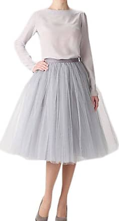 Clearbridal Womens 50s Vintage Tulle Petticoat Tutu Skirt Bridal Petticoat Underskirt for Prom Evening Wedding Party 12021 Sliver