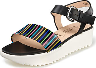 Peter Kaiser Lambskin nappa and calf patent leather sandals Peter Kaiser Balanced multicoloured