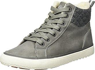 b3c36a560153 s.Oliver Damen 26208 Hohe Sneaker, Grau (Lt Grey), 37 EU