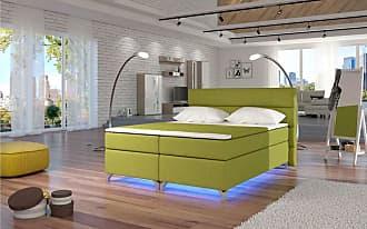 Stylefy Amadeo LED Boxspringbett 165x205x126 cm Grün