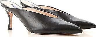 Stuart Weitzman Sandals for Women On Sale, Black, Leather, 2017, 10