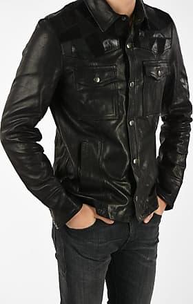 Diesel BLACK GOLD Leather LASTREET Jacket Größe 48