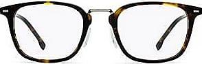 BOSS Havana acetate optical glasses with beta-titanium temples