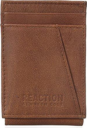 Kenneth Cole Reaction Mens RFID Security Blocking Front Pocket Wallet,Tan