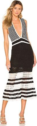 X by NBD Lana Midi Dress in Black & White