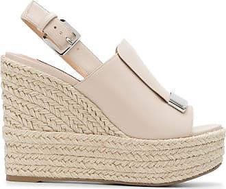 Sergio Rossi Zweifarbige Wedge sandalen Damen Schuhe Outlet