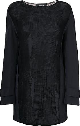 Yang Li Suéter translúcido com detalhe contrastante - Preto