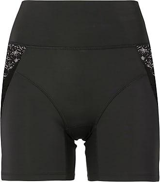 Kiki De Montparnasse lace-trimmed biker shorts - Black