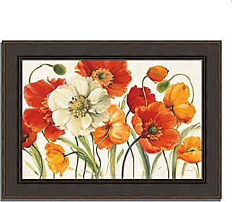 Tangletown Fine Art Poppies Melody I by Lisa Audit Framed Art Red/White