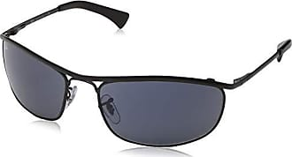 f05920b3de6eec Ray-Ban Mens Olympian Oval Sunglasses, Top Demi Shiny Black, 62 mm