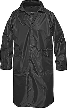 Mil-Tec Regenmantel mit Kapuze schwarz, Größe XXL