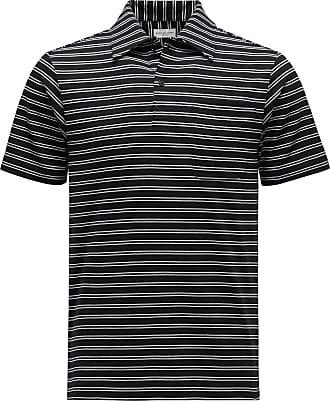 Dries Van Noten Jersey-Poloshirt schwarz/weiß gestreift