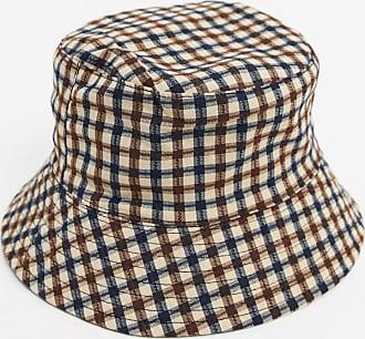 Topshop check bucket hat in brown